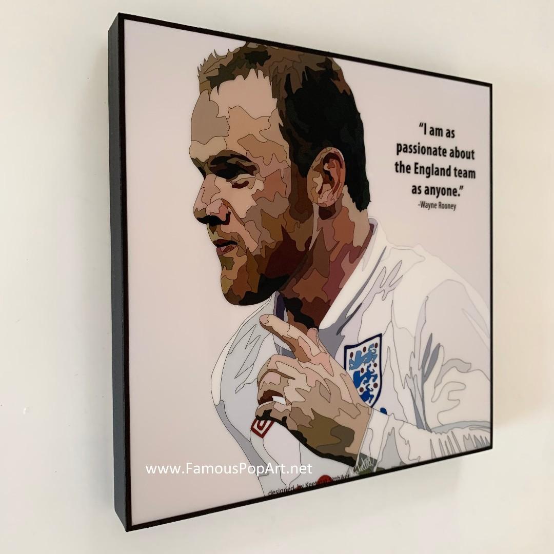 EPL Manchester United Wayne Rooney PopArt! Portrait Pop Art