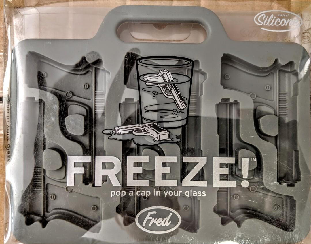 Fred Freeze Novelty Handgun Shaped Silicone Ice Cube Tray
