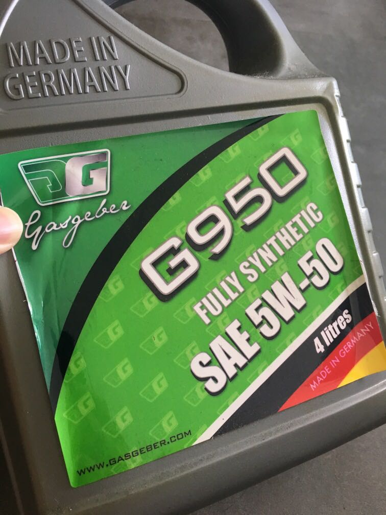 Gasgeber G950 Engine oil