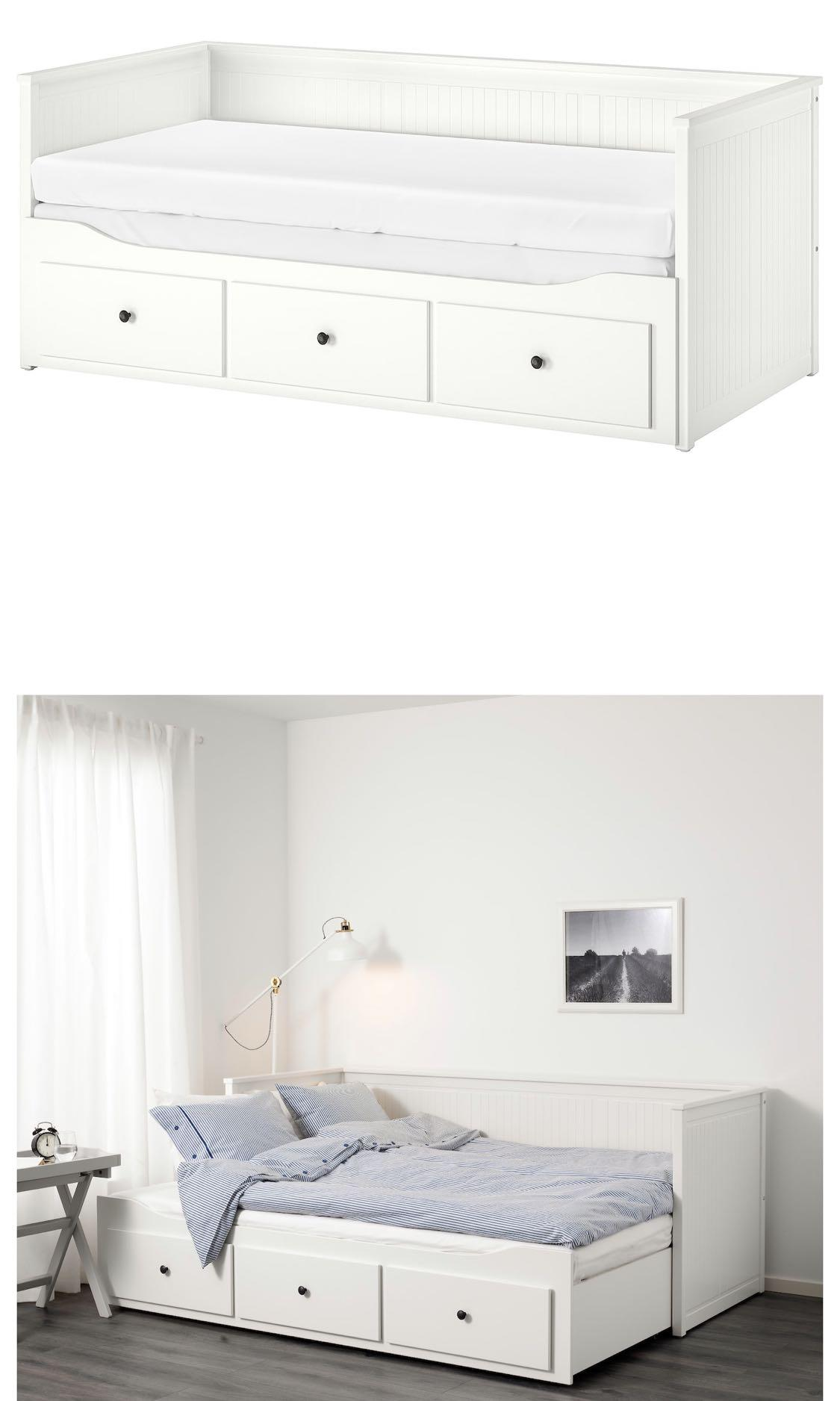 - IKEA HEMNES Daybed (Twin), Furniture, Beds & Mattresses On Carousell