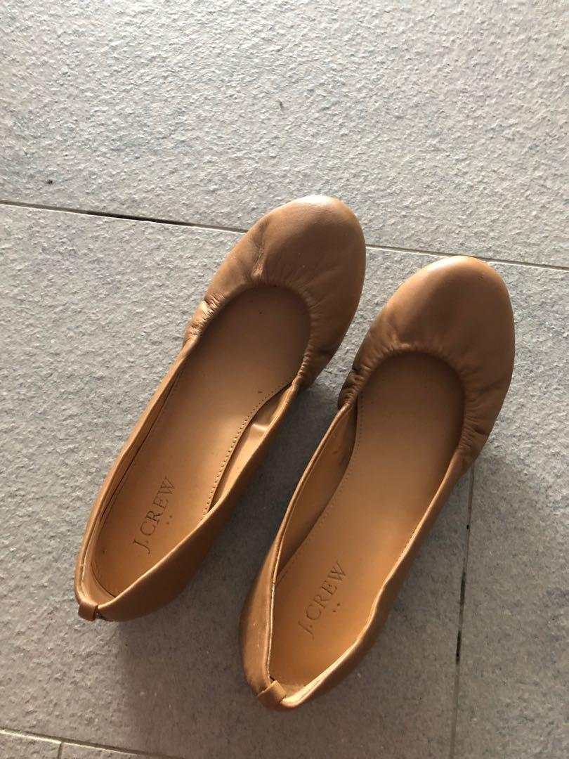 Jcrew Brown Leather Flats