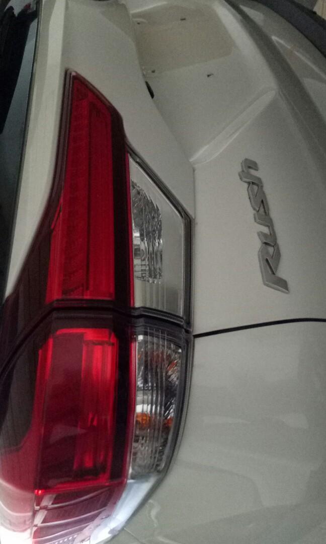 Jual mobil toyota all new rush automatic type g warna putih harga otr langsung ke atas nama pembeli