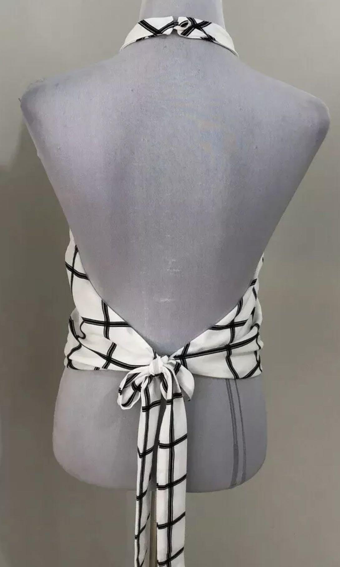 Ladies BACKSTAGE Lined Halter Top.   Fits Size XS-S.