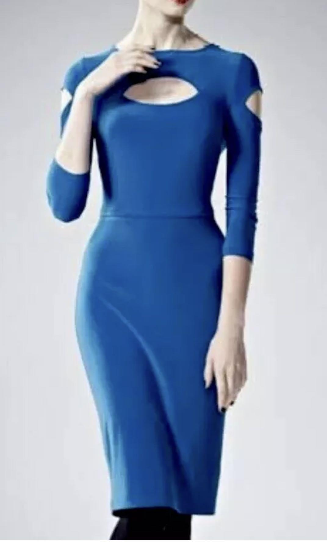 Ladies LEONA EDMISTON Annalise Sapphire Stretch Dress. Size 1. NWT $245