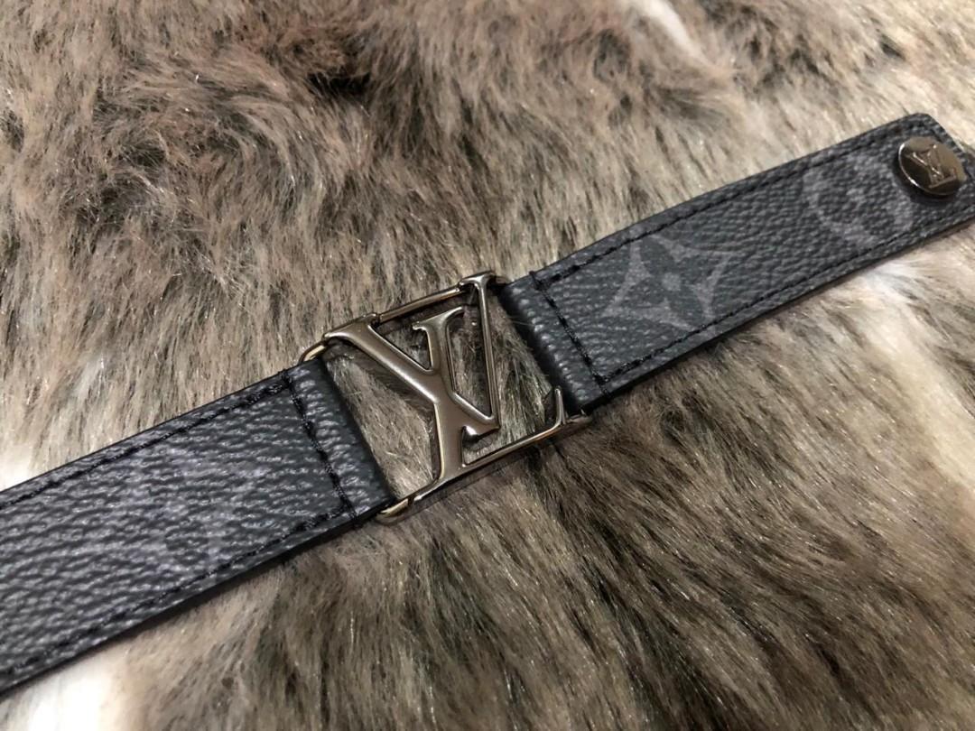Louis Vuitton Hockenheim Bracelet size 19 Eclipse Monogram (2018)