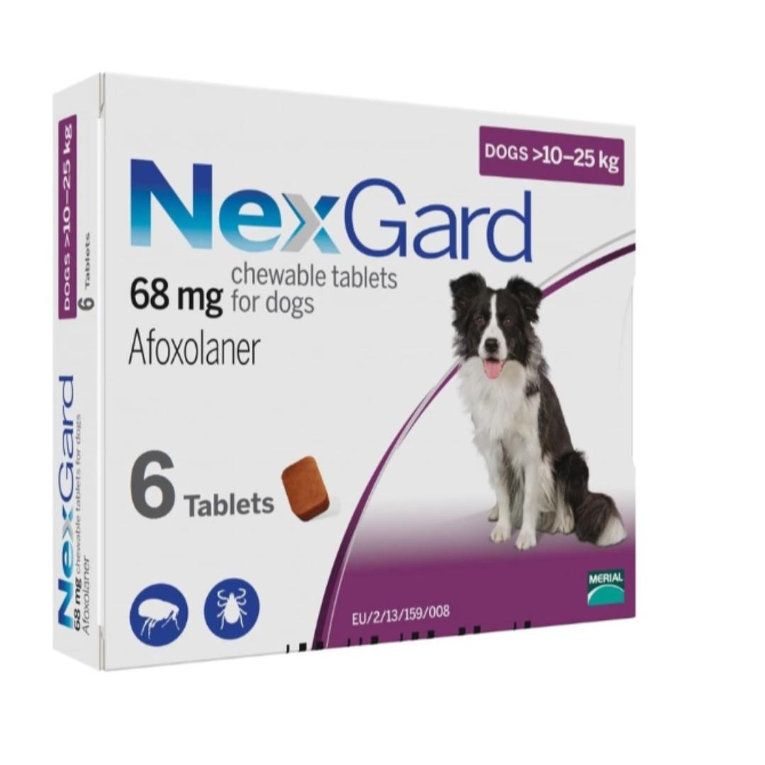 Nexgard Flea & Tick Chewables (Afoxolaner) 6 TABLETS PACK