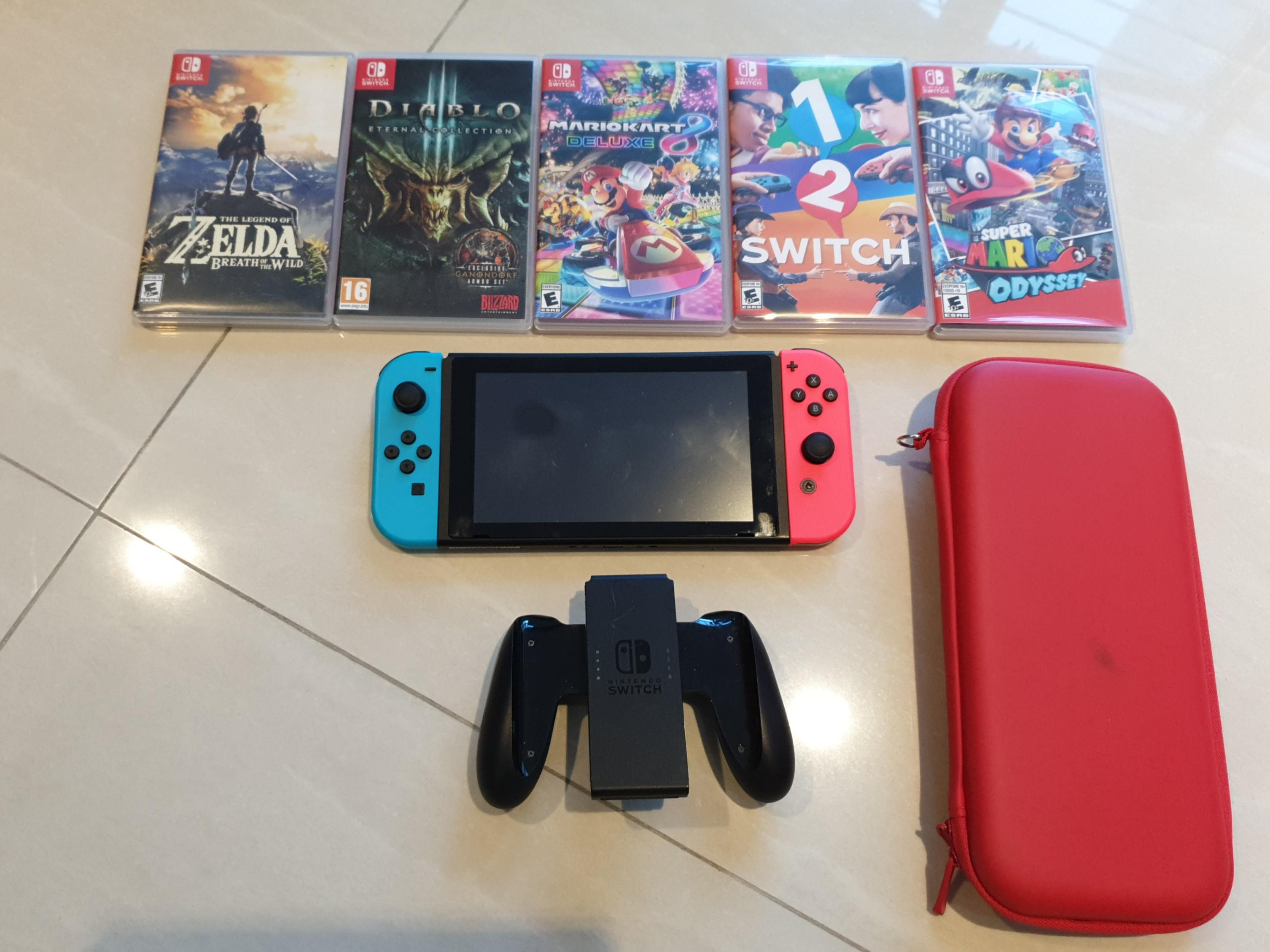 Nintendo Switch Bundle Zelda Diablo Mariokart Switch 1 2