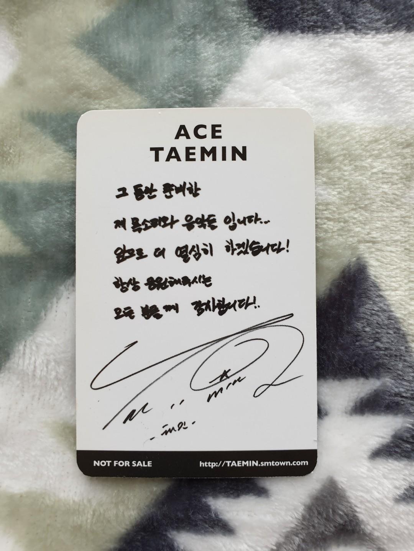 [OFFICIAL] SHINee Taemin Ace Photocard