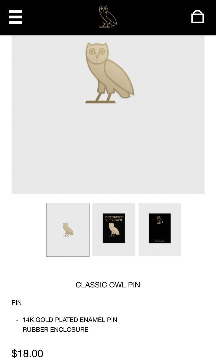 OVO Gold Plated Pin