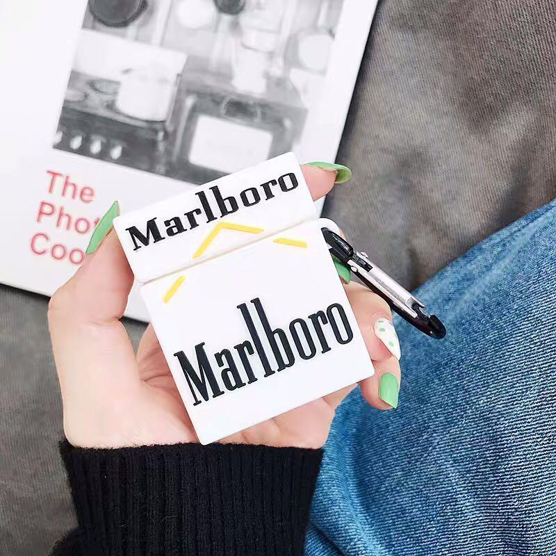po* marlboro airpods case, Women's Fashion, Accessories