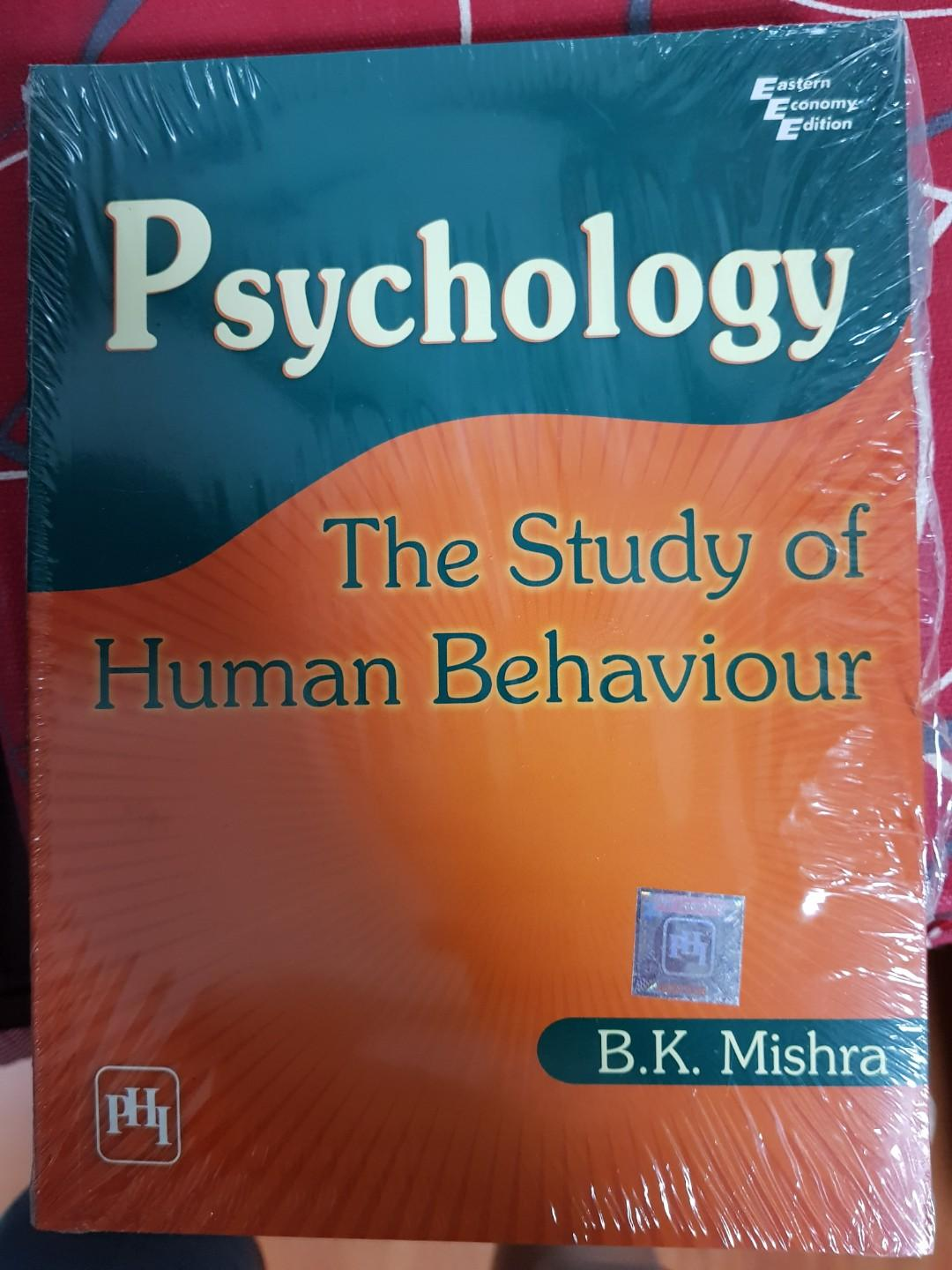 Psychology The Study Of Human Behaviour By B K Mishra Books Stationery Textbooks Tertiary On Carousell
