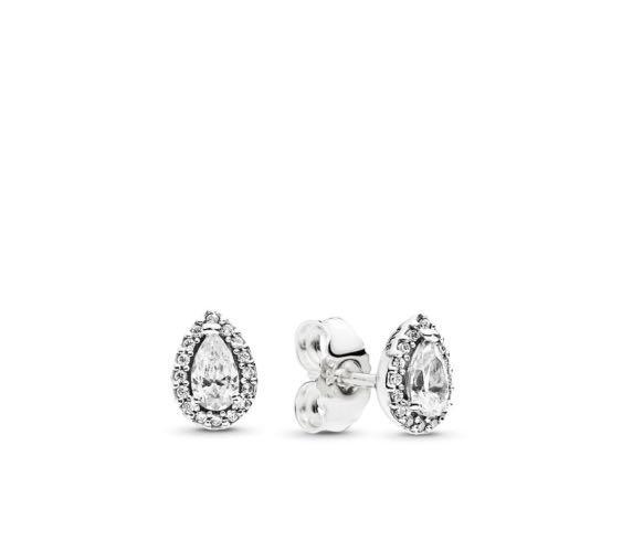 Radiant Teardrops Earrings Pandora Authentic (Pear-Shaped)