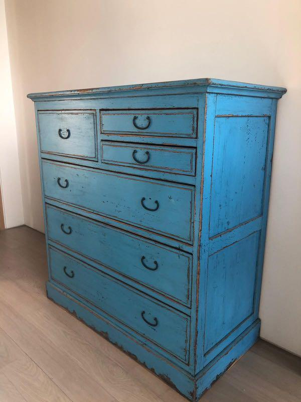 Rare Antique Wooden Chest Of Drawers