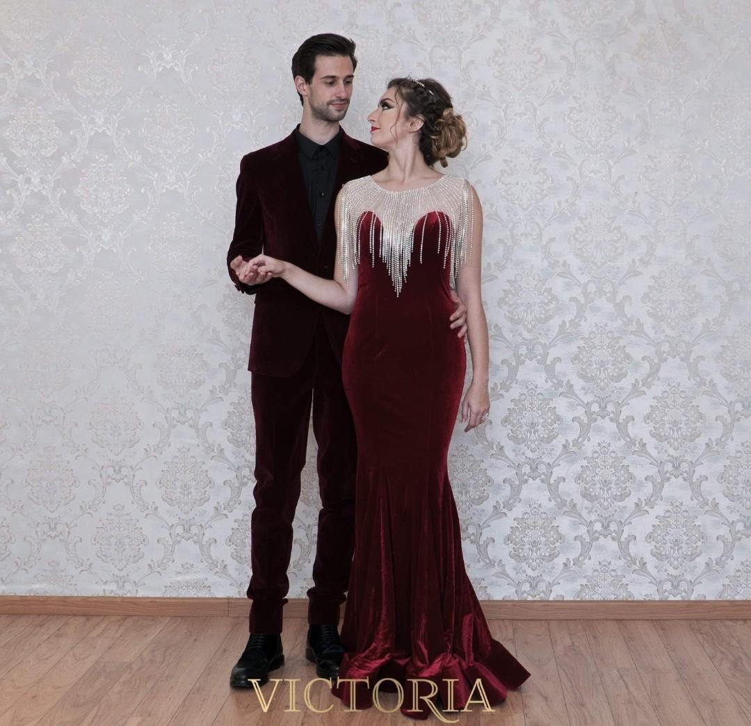 Red evening wedding gown dress $200