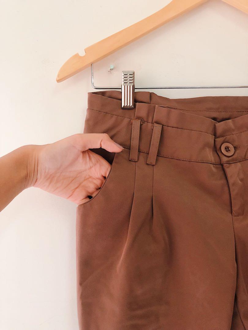 Shiny Brown Khaki Pants
