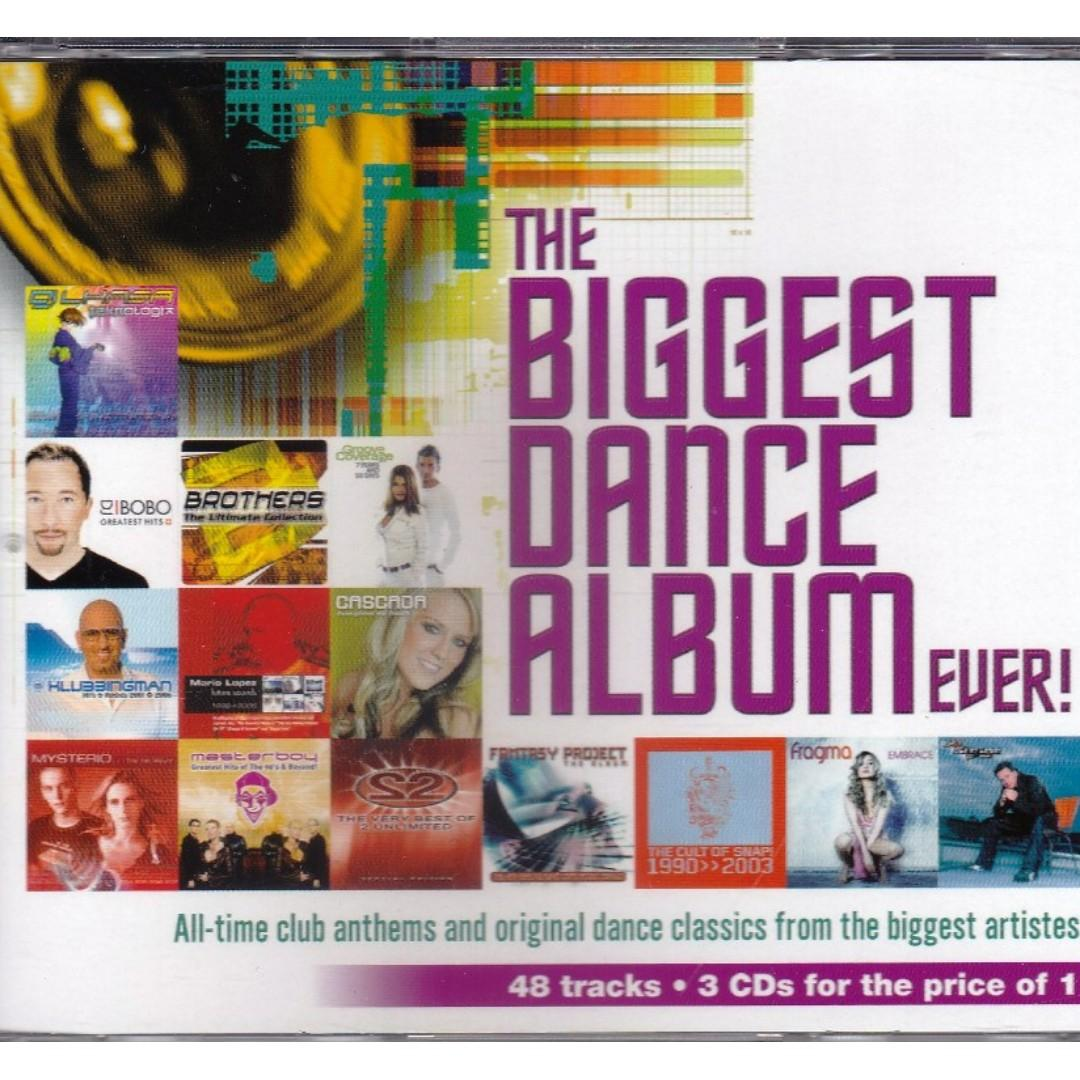 The Biggest Dance Album Ever 3CD Cascada DJ Bobo Brothers Groove Coverage Free Shipping