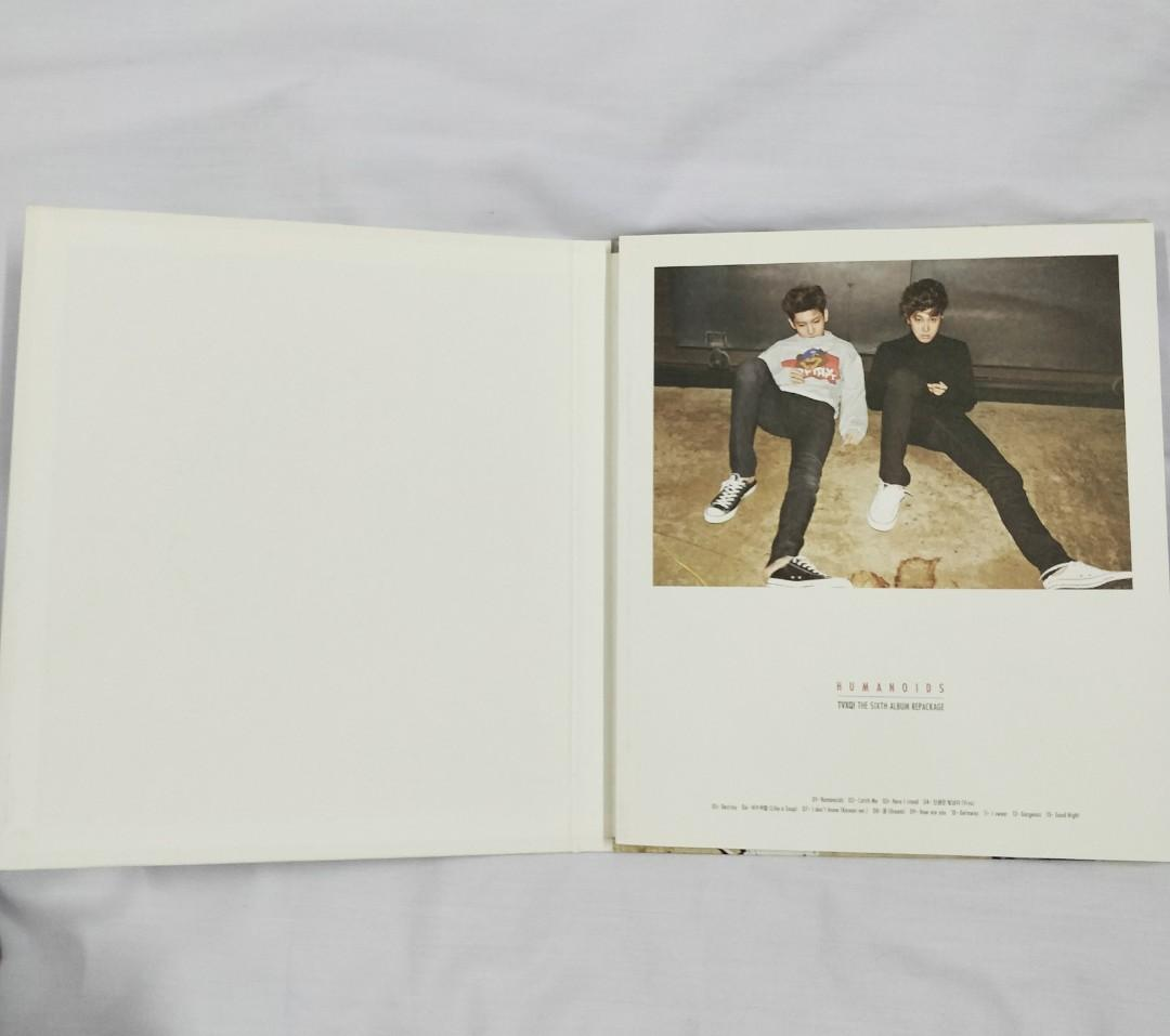 TVXQ The Sixth Album Repackage HUMANOIDS with Changmin Photocard