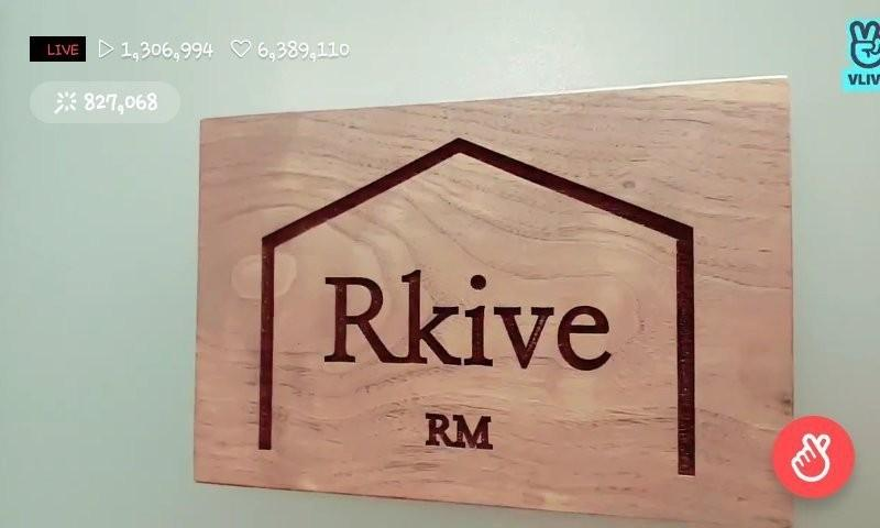 WTS BTS RM Rkive wooden keyring
