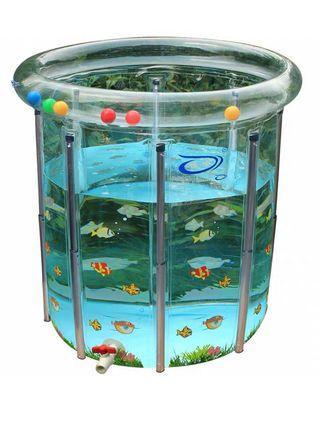 bb游水池 baby swimming pool 可調節高度,可用到10歲