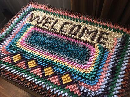 🚚 Beautiful Handmade Welcome Mat