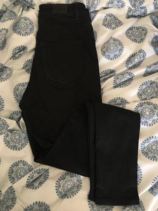All black cheap Monday jeans size 26-27