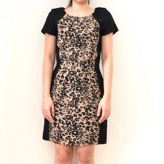 Warehouse Leopard Print Dress