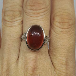 Hazanite Garnet Silver 925 Rings Natural Crystal天然橙石榴石银戒指