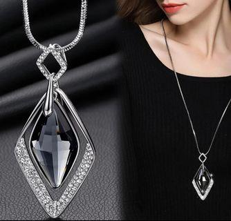 Long Necklaces & Pendants  Collier Femme Geometric Statement Colar Maxi Fashion Crystal Jewelry Bijoux