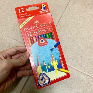 New Triangular Grip Colour Pencil Faber Castell 12 Tri Tone