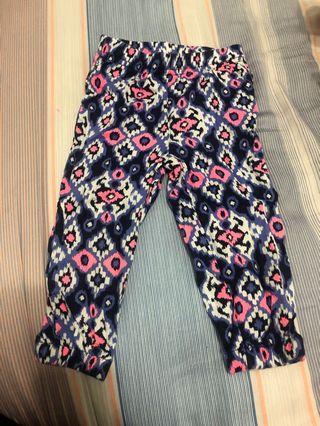 🚚 Carter's 花紋薄長褲 12m