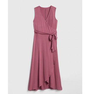 Gap wrap pink dress