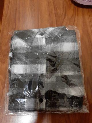 黑白格 襯衫外套