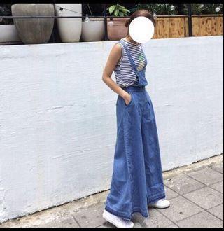 🚚 全新超質感&顯瘦吊帶寬褲