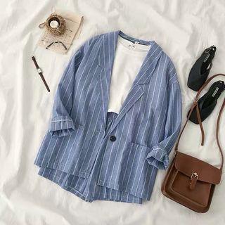 Stripe Blazer Set