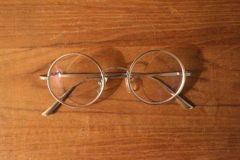 圓框眼鏡|老品 金絲 復古 古著 Vintage 可配度數 文藝青年