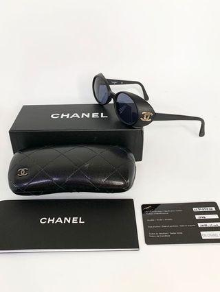 💯真品Auth Full set 絕版全套 Chanel rare CC logo black matte sunglasses 網紅大熱超人氣經典復古磨砂黑色太陽眼鏡