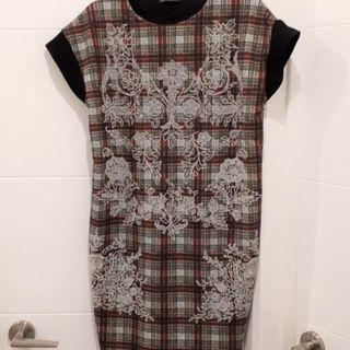 Brand New Zara Tartan T-Shirt Dress or Shift