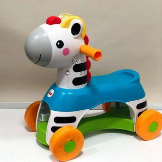 Fisher-Price Rollin Tunes Zebra Ride On Toy for 12 months and above