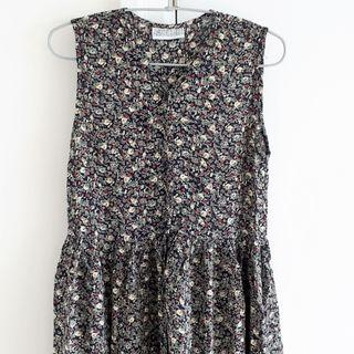 Vintage Floral Button Down Maxi Dress - New
