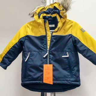 H&M Winter jacket coat for babies - Yellow and blue