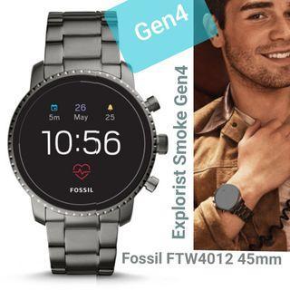 Fossil Smart Watch Ftw4012 Explorist Smokey Green