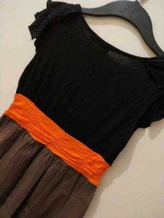 Black & Brown with Orange Belt Detail