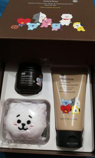 Limited edition Innisfree BT21 Facial Mask Set
