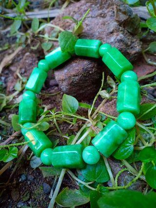 Gelang giok green jade