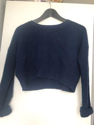 Blue Knit Sweater from F21