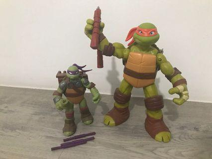 Teenage mutant ninja turtles figures bundle