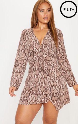 PLT+ US18 2X Snakeskin print dress