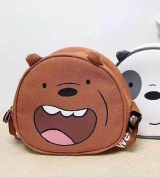 We Bare Bear Grizz sling bag