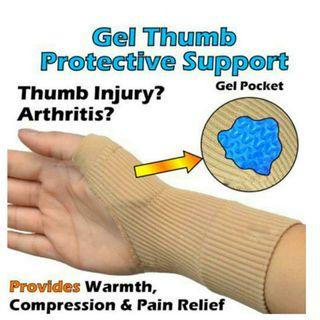 🚚 1 pair of Silicon Sprains Joint Therapy Gel Filled Thumb Hand Wrist Gloves Support Arthritis Compression for $9.90.Sorry
