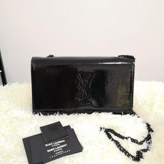 ON HAND: Authentic Yves Saint Laurent YSL Medium Kate Monogram Chain Crossbody Bag in Patent